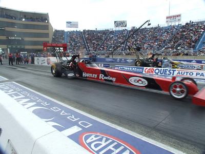 Top Fuel Dragster Action