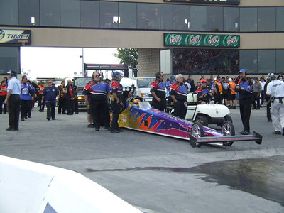 Top Fuel Dragster Staging Lanes
